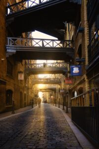 Shad Thames and its criss-cross walkways