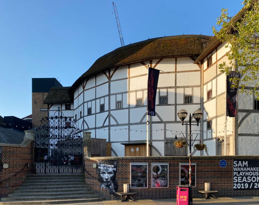 Entrance view of the Shakespeare's Globe