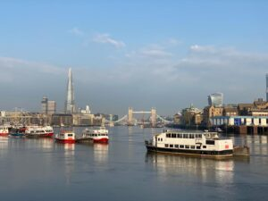 view of the thames, London Bridge and the Shard