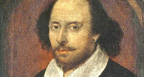 Oil painting of William Shakespeare's portrait