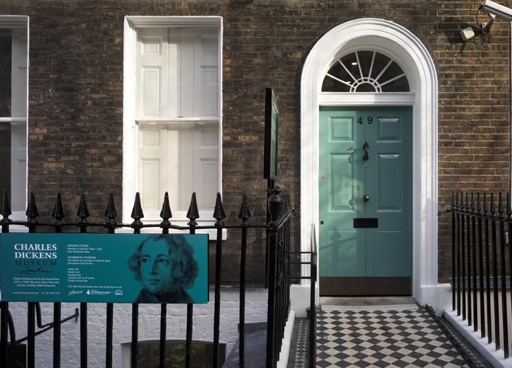 Front door of 48 Dought Street